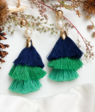 Load image into Gallery viewer, Let's Party Earrings Blue and Green