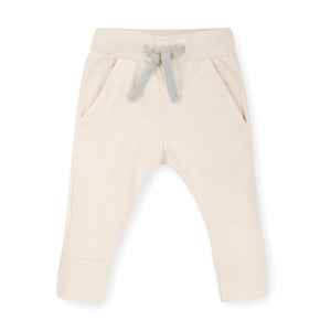 Cream Slim Jogger - Organic Cotton