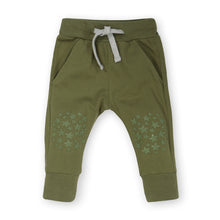 Load image into Gallery viewer, Olive Green Slim Jogger - Organic Cotton