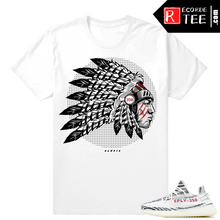 Load image into Gallery viewer, Adidas Yeezy Boost 350 – V2 Zebra | The Boost Chief – White T shirt