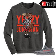 Load image into Gallery viewer, Beluga Yeezy Boost 350 V2 Crewneck Sweater Grey Yeezy Over Jumpman