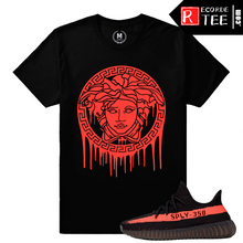 Load image into Gallery viewer, Yeezy Boost 350 V2 Black Red Match | Medusa Drip | Black T shirt