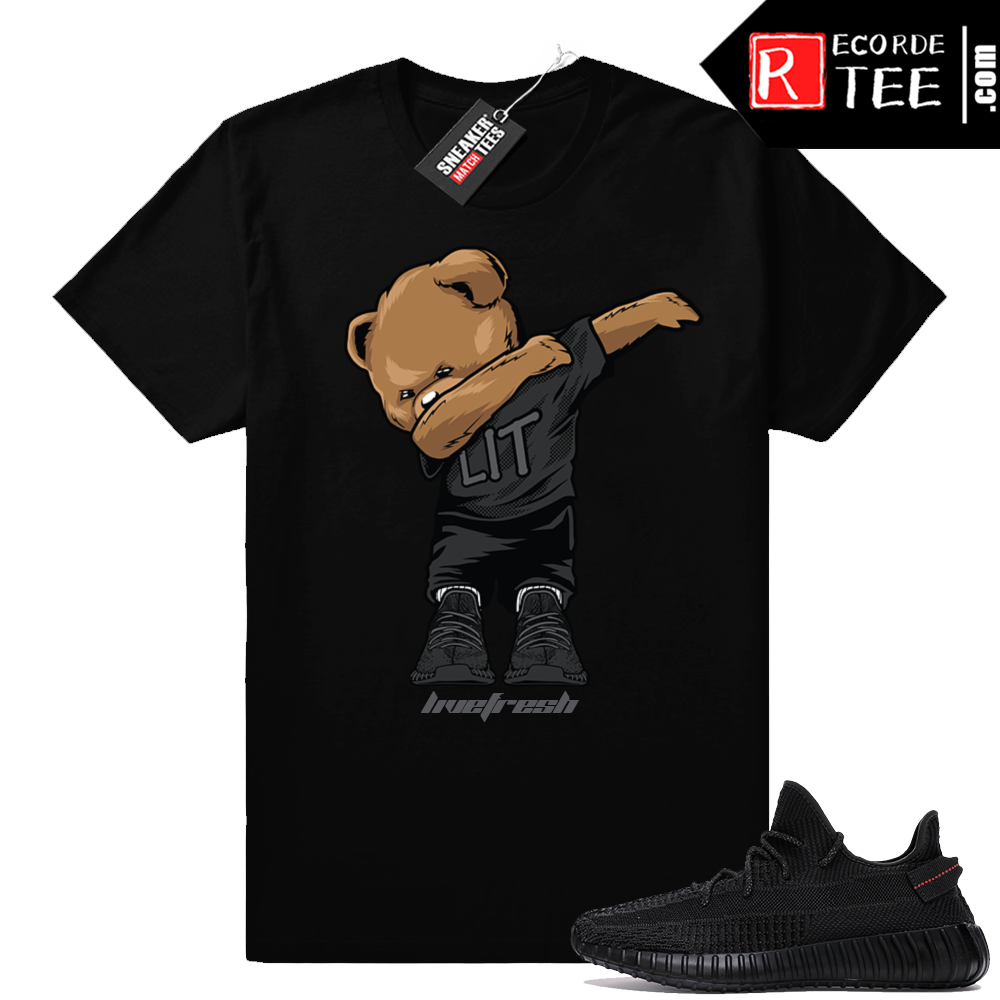 Yeezy Boost 350 V2 Black | Dabbin Bear | Black Shirt