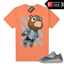 Load image into Gallery viewer, Carbon Blue Yeezy 700 | Bear Boost 700 | Bright Orange shirt