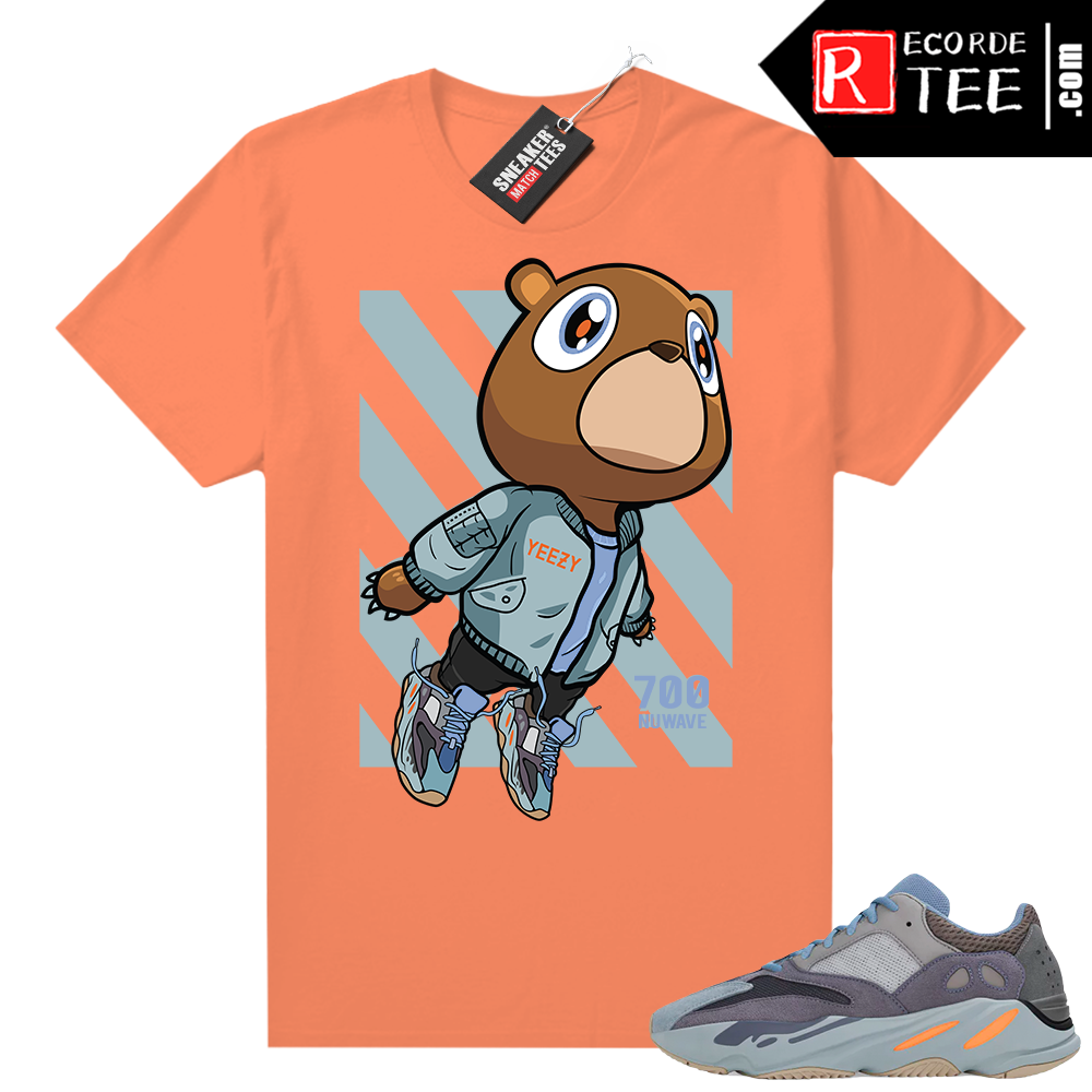 Carbon Blue Yeezy 700 | Bear Boost 700 | Bright Orange shirt