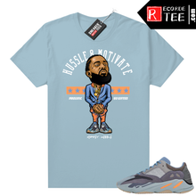 Load image into Gallery viewer, Carbon Blue Yeezy 700 | Nipsey Hussle Motivate | Carbon Blue shirt