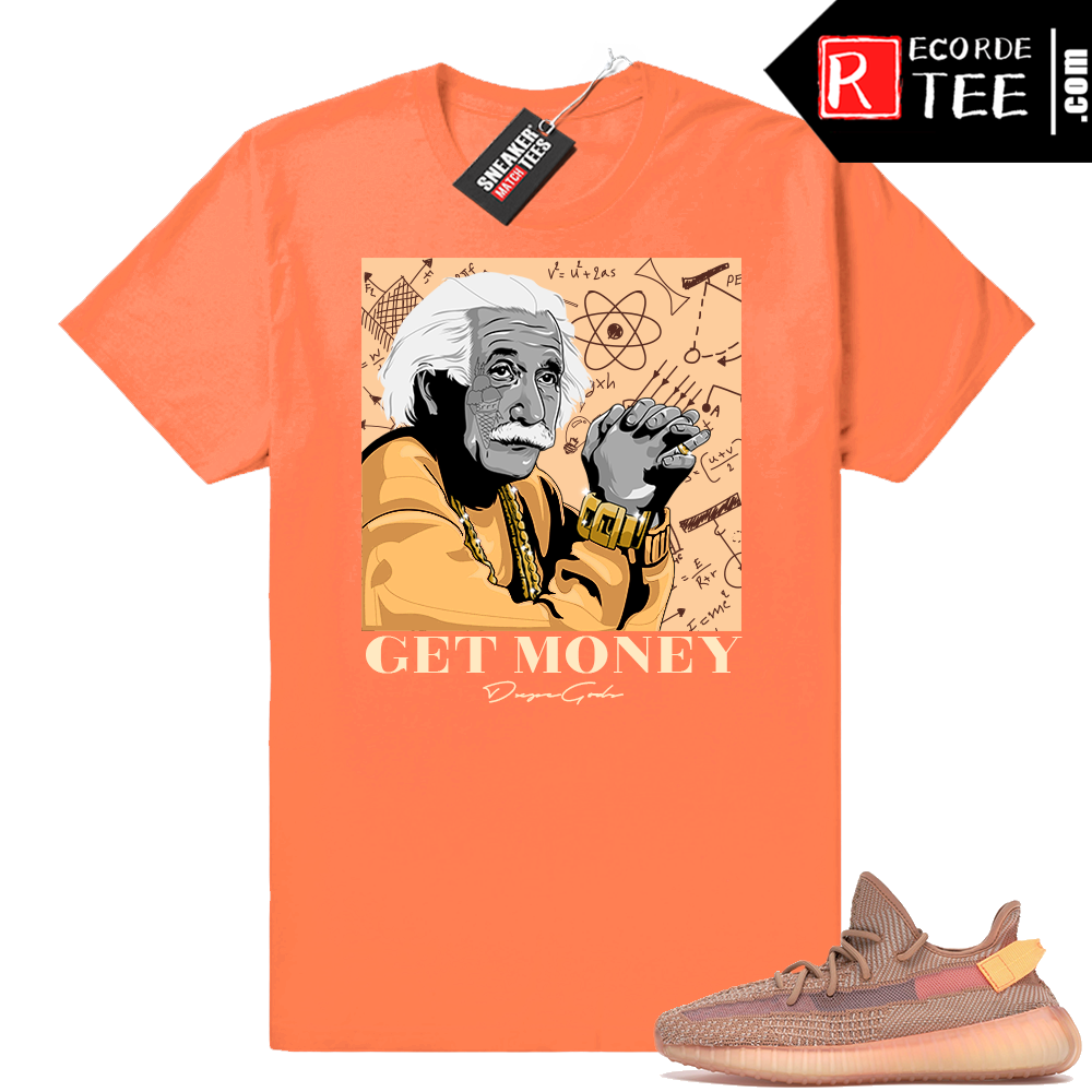 Yeezy 350 Clay | Theory of a Hustler | Hyper Orange Shirt