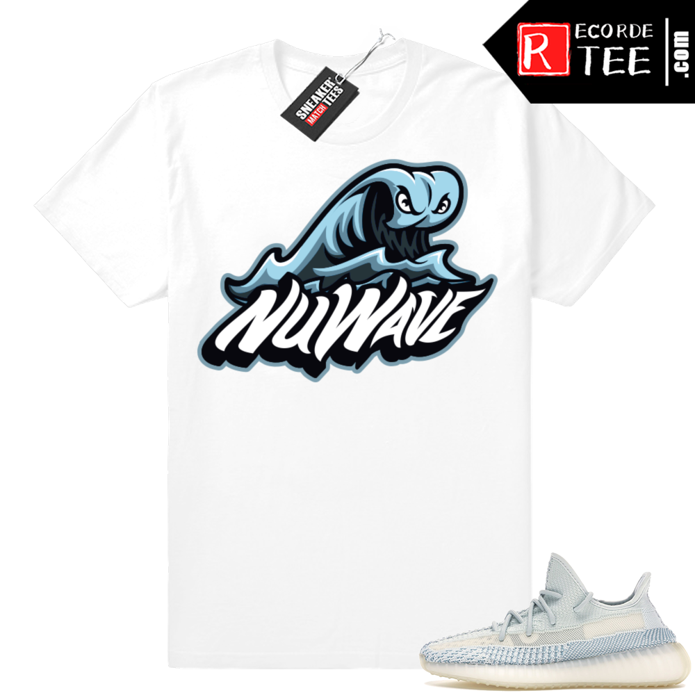 Yeezy Cloud White | Nuwave Monster Wave Logo | White Shirt