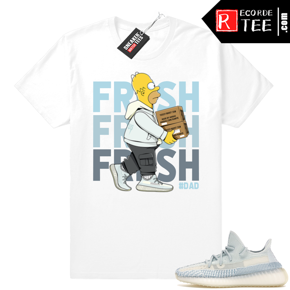 Yeezy Cloud White | Fresh Homer | White Shirt