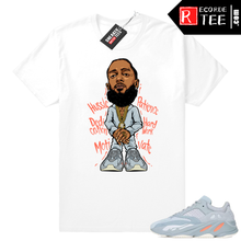 Load image into Gallery viewer, Inertia Yeezy 700 | Nipsey Hussle | White shirt