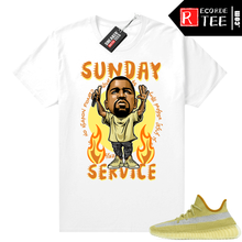 Load image into Gallery viewer, Marsh Yeezy 350 Shirt White – Sunday Service Ye Toon