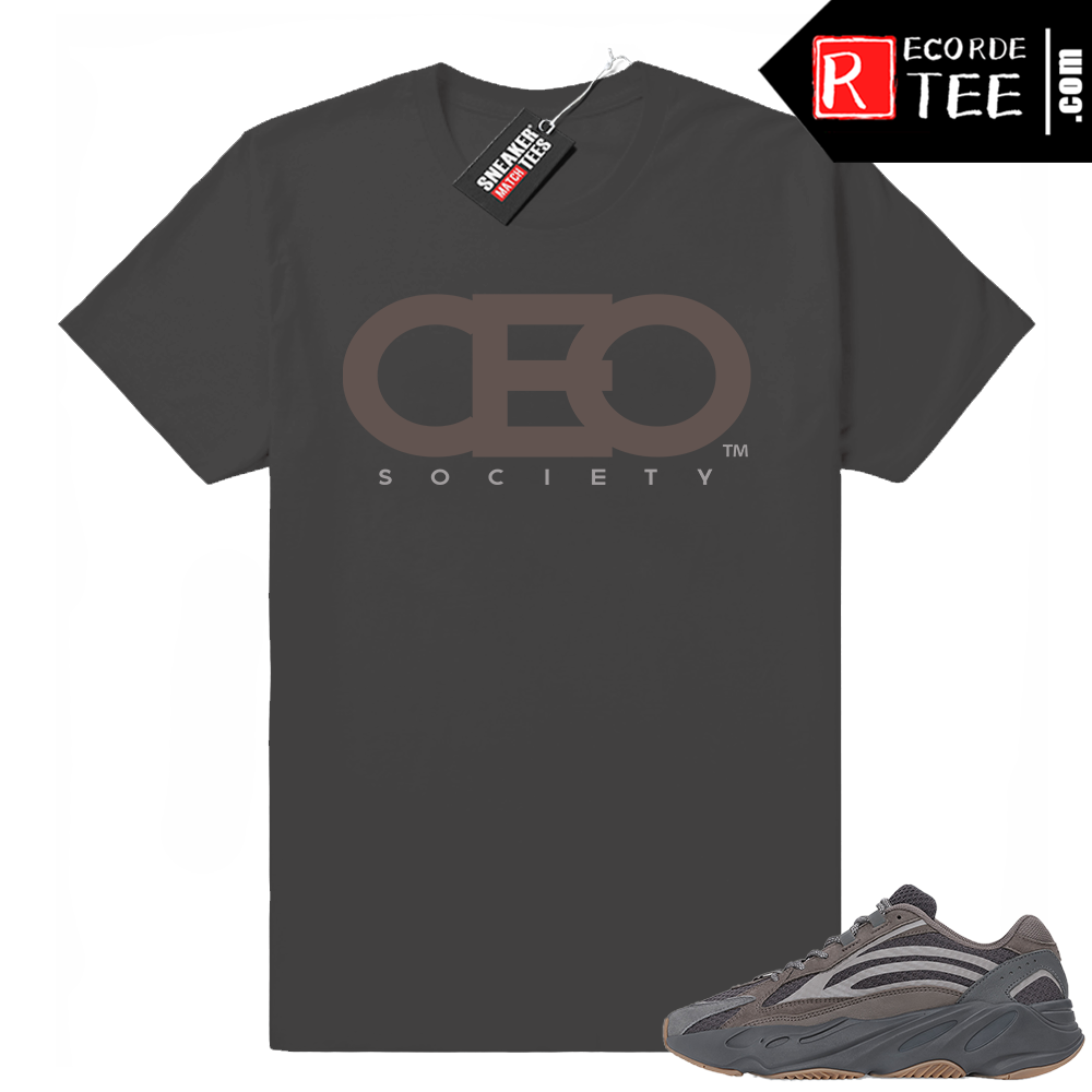 Yeezy 700 V2 Geode | CEO Logo | Dark Grey Shirt