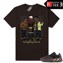 Load image into Gallery viewer, Match Mauve 700 Yeezy | Everybody Eats B | Chocolate shirt