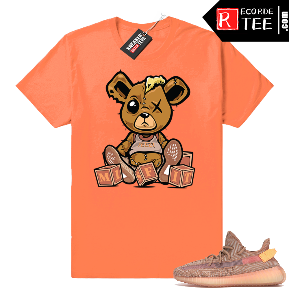 Yeezy 350 Clay | Misfit Teddy | Hyper Orange Shirt