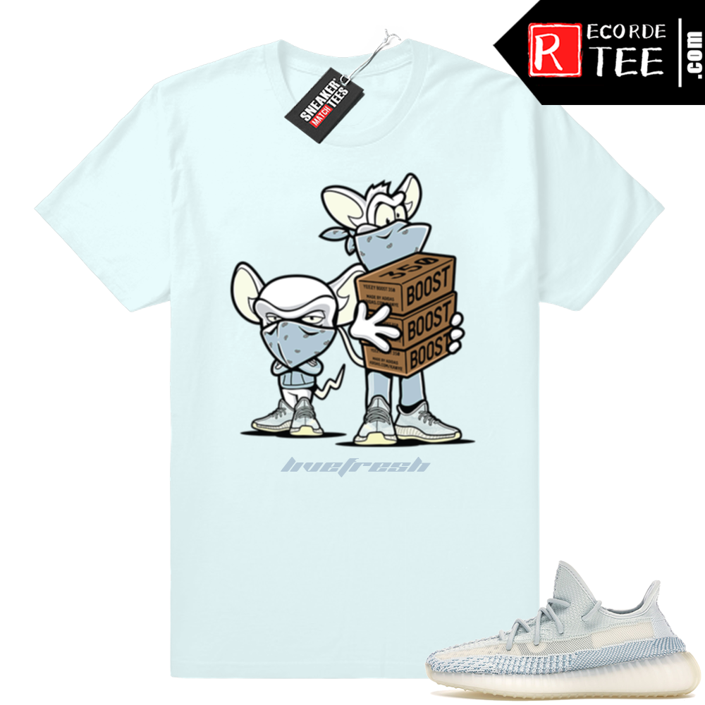 Yeezy Cloud White | Sneaker Heist | Light Blue Shirt