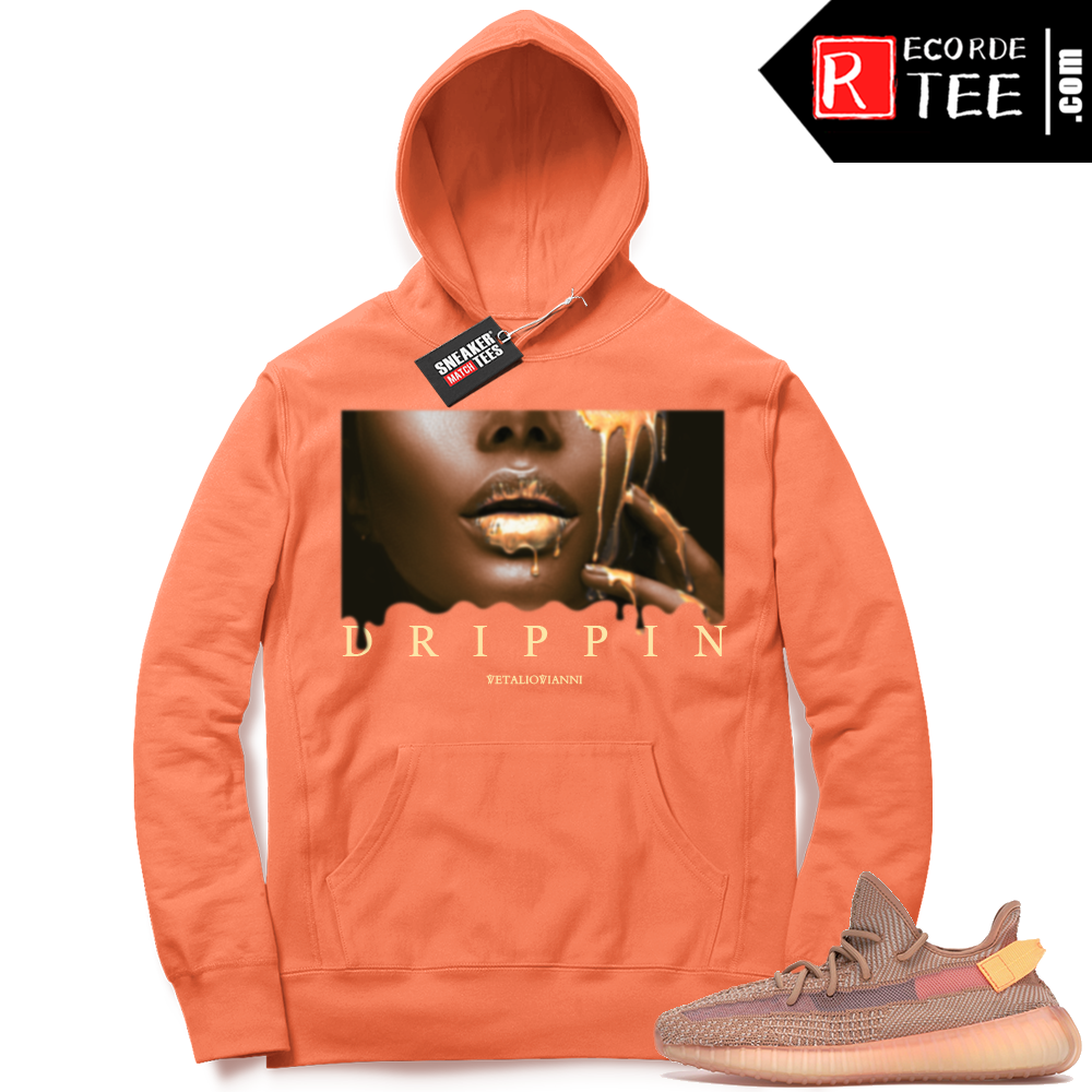 Yeezy 350 Clay | Drippin | Bright Orange Hoodie
