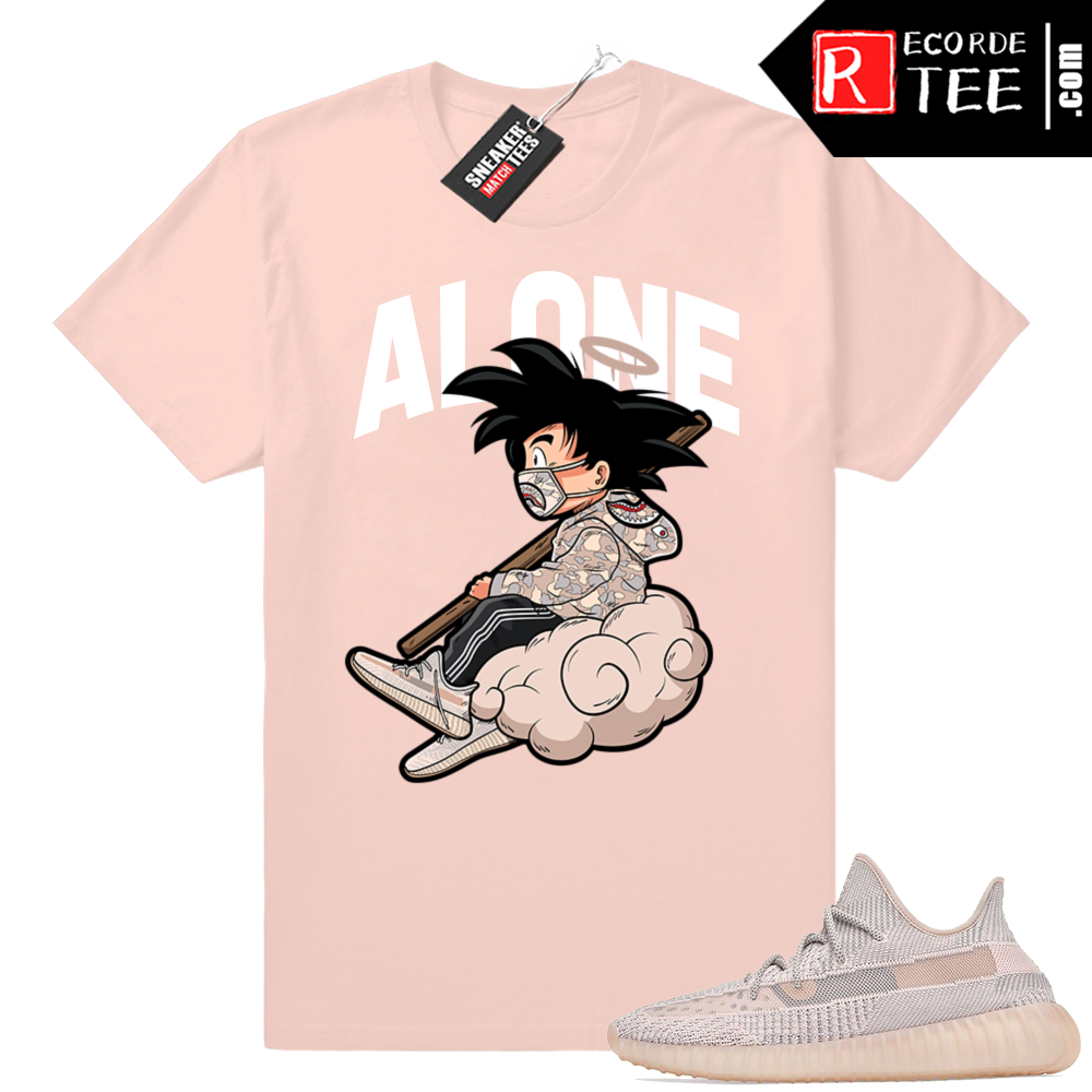 Yeezy 350 Synth | ALONE | Light Pink Shirt