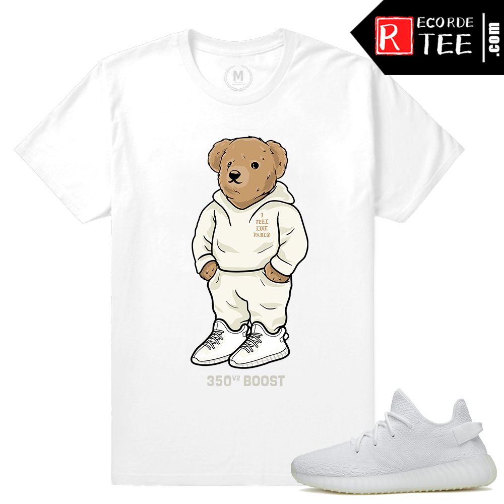 Match Yeezy Boost 350 V2 Cream White | 350 Boost Bear | White T shirt