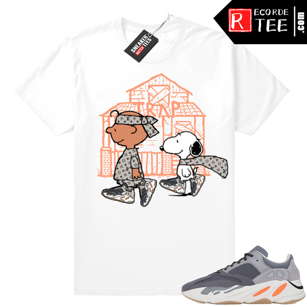 Magnet Yeezy 700 | Snoopy Trap House | White shirt