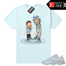 Load image into Gallery viewer, Inertia Yeezy 700 | Get Schwifty | Light Blue shirt