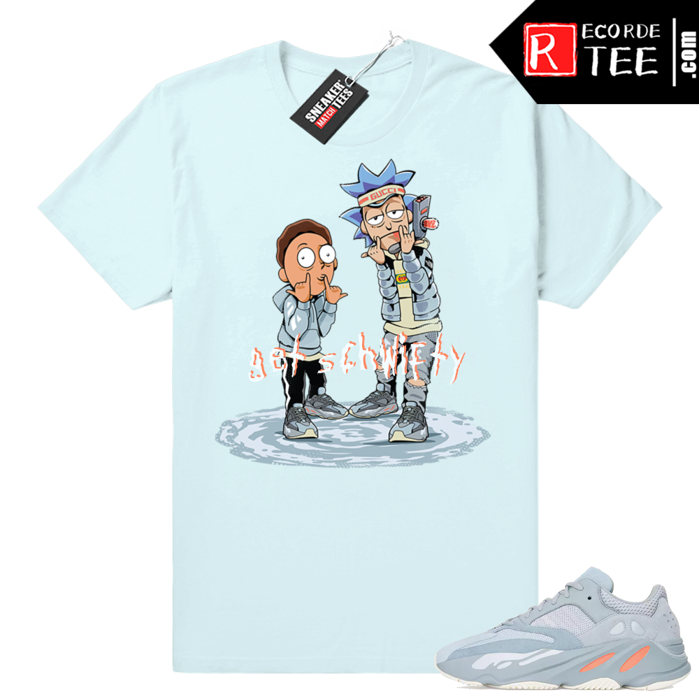 Inertia Yeezy 700 | Get Schwifty | Light Blue shirt