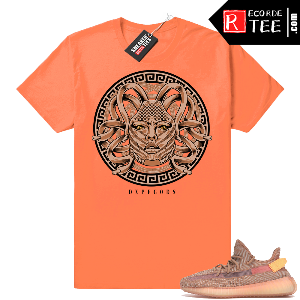 Yeezy 350 Clay | Dxpe Medusa | Hyper Orange Shirt