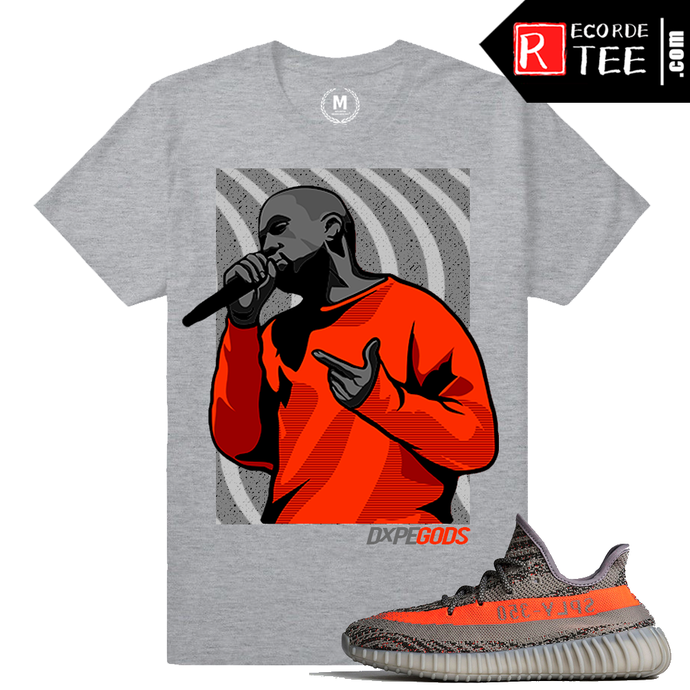 Yeezy Boost 350 V2 Beluga Match | Dxpe Waves | Heather Grey T shirt