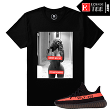 Load image into Gallery viewer, Yeezy Boost 350 V2 Black Red Match | Haters Will Say | Black T shirt