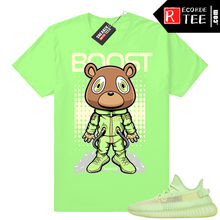 Load image into Gallery viewer, Yeezy Glow | Space Bear Boost | Bright Green Shirt
