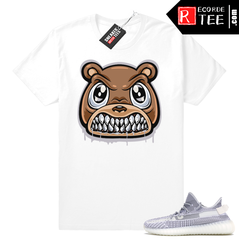 Static Yeezy 350 | Angry Yeezy Bear | White shirt
