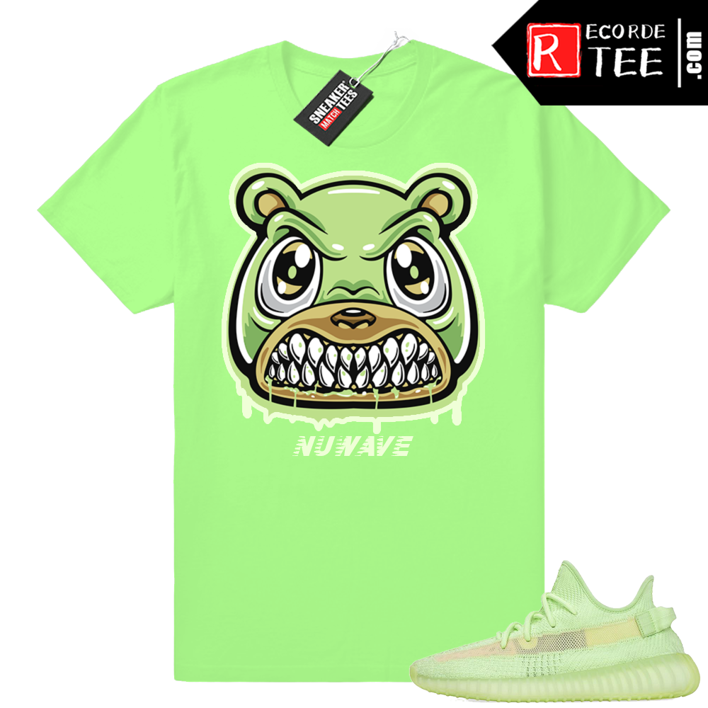 Yeezy Glow | Angry Bear Drip | Bright Green Shirt