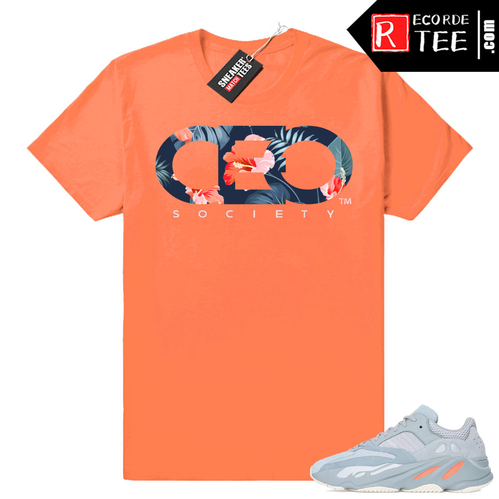 Inertia Yeezy 700 | CEO Floral | Hyper Orange Shirt