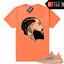 Load image into Gallery viewer, Yeezy 350 Clay | Prolific | Hyper Orange Shirt
