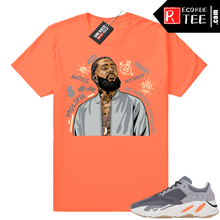 Load image into Gallery viewer, Magnet Yeezy 700 | Nipsey Tribute | Bright Orange Shirt