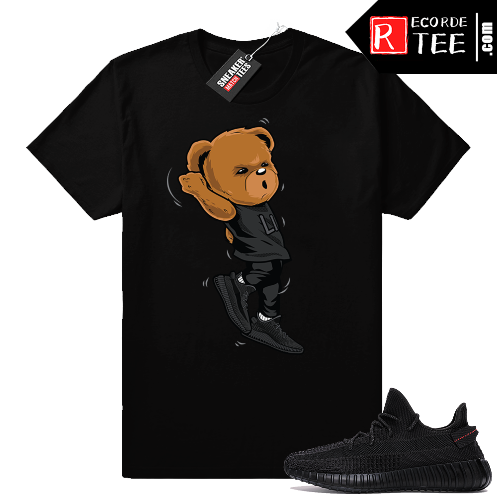 Yeezy Boost 350 V2 Black | Shootin Bear | Black Shirt