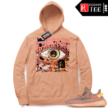 Load image into Gallery viewer, Yeezy 350 Clay | Abstract Eye | Light Clay Hoodie