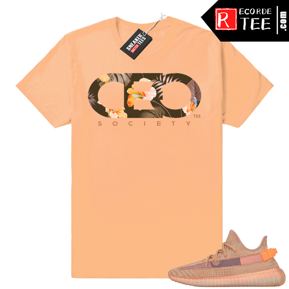 Yeezy 350 Clay | CEO Floral | Light Clay shirt