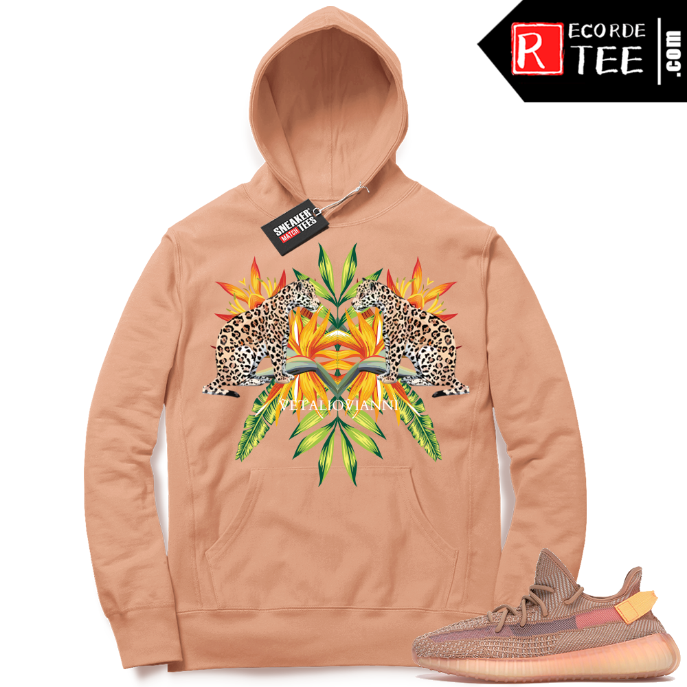 Yeezy 350 Clay | Tropical Leopards | Light Clay Hoodie