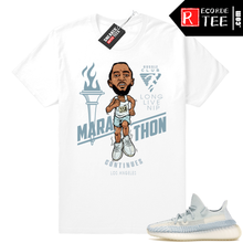 Load image into Gallery viewer, Yeezy Cloud White | Marathon Continues | White Shirt