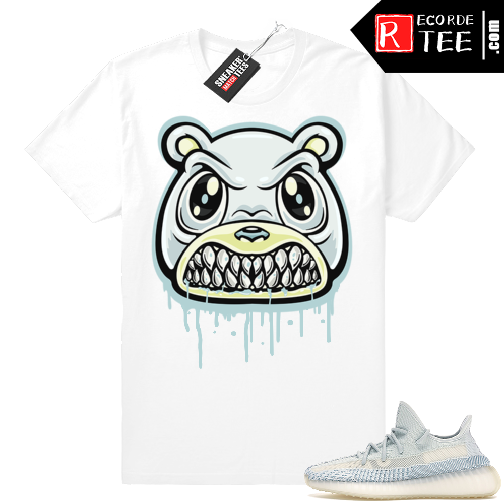 Yeezy Cloud White | Angry Bear Drip | White Shirt