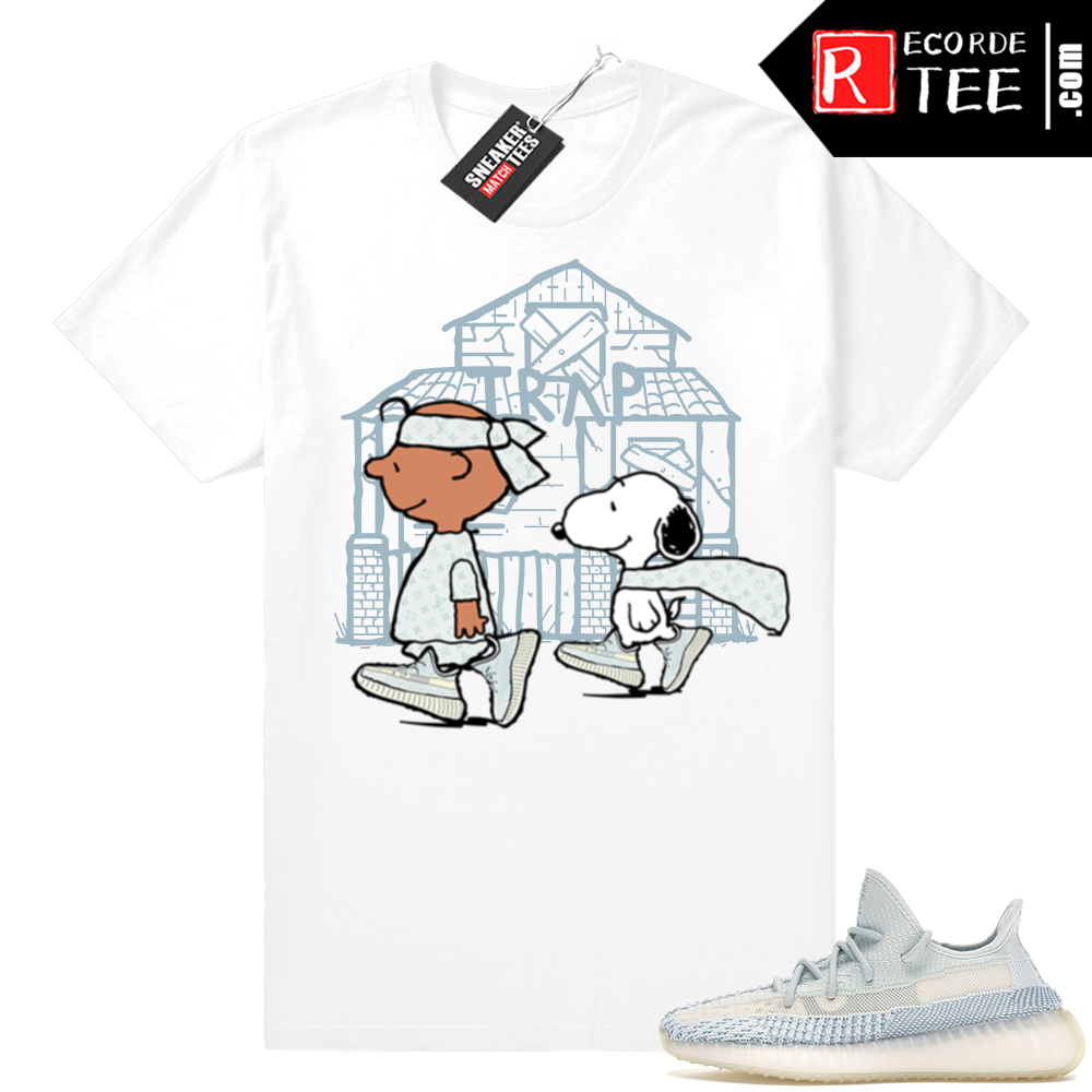 Yeezy Cloud White | Snoopy Trap House | White Shirt