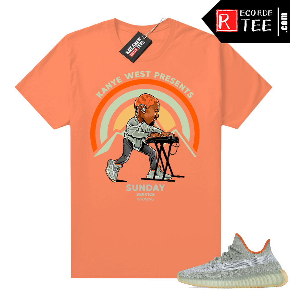 Yeezy Desert Sage 350 tee – Hyper Orange – Sunday Service Wyoming
