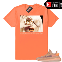 Load image into Gallery viewer, Yeezy 350 Clay | Diamonds On Me Dancing | Hyper Orange Shirt