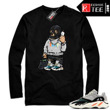 Load image into Gallery viewer, Yeezy Wave Runner | Ski Mask Trap Bear | Black Long Sleeve Shirt