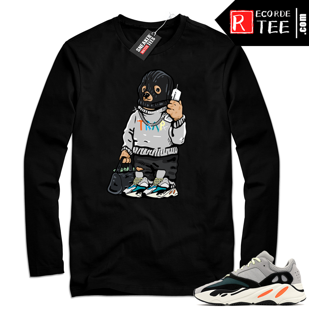 Yeezy Wave Runner | Ski Mask Trap Bear | Black Long Sleeve Shirt