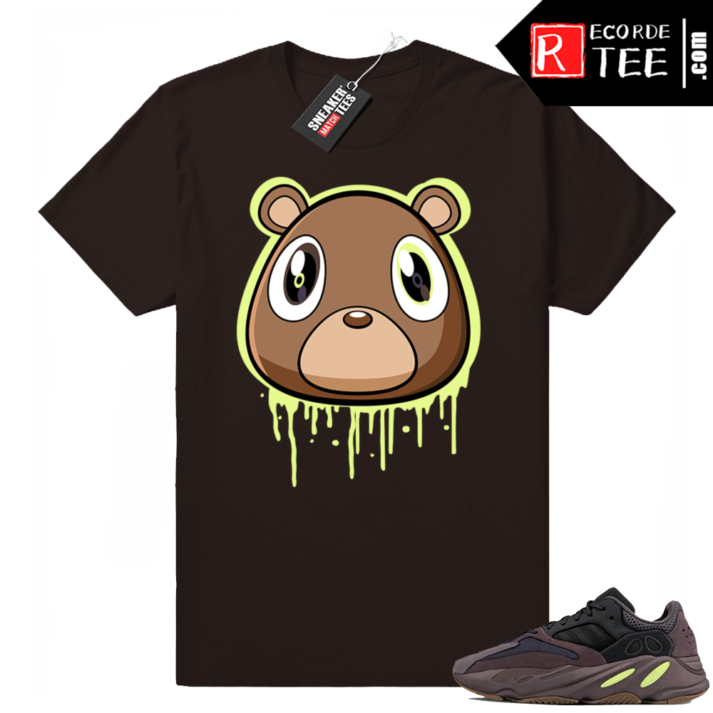 Yeezy bear t-shirt Mauve 700 | Bear Drip | Chocolate shirt