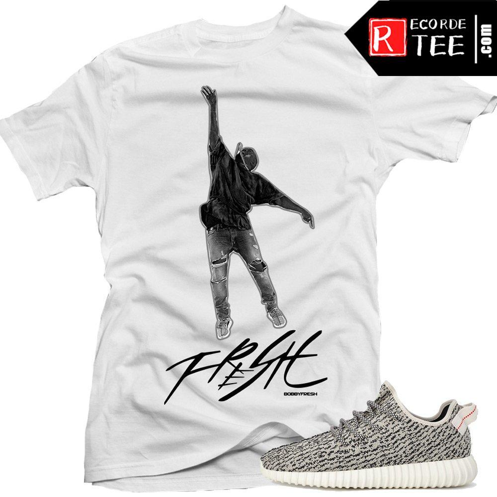 "Yeezy Boost shirts to match ""Mic Toss"" White Sneaker Tees shirt"