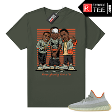 Load image into Gallery viewer, Yeezy shirts Desert Sage 350 Sneaker Match – Olive – Everybody Eats B