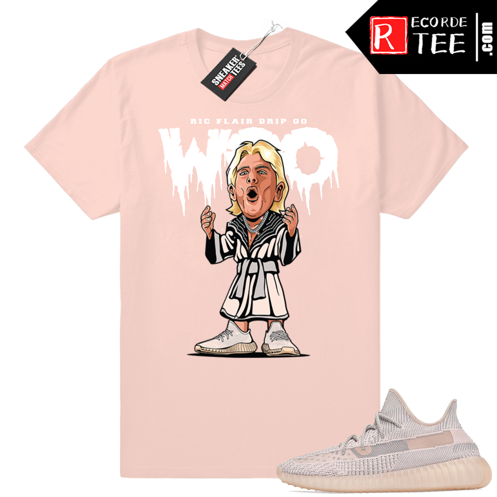 Yeezy 350 Synth | Ric Fl Drip | Light Pink Shirt