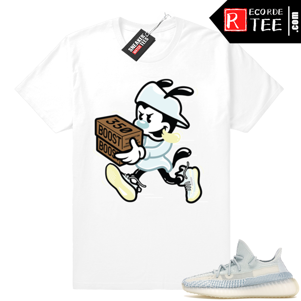 Yeezy Cloud White | Double Up | White Shirt